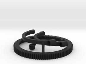 Follow focus gear for Arri Standard Cooke lens in Black Natural Versatile Plastic