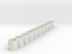 10x9.5x2.38Fl in White Natural Versatile Plastic