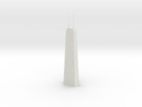 John Hancock Center (1:2000) in White Natural Versatile Plastic