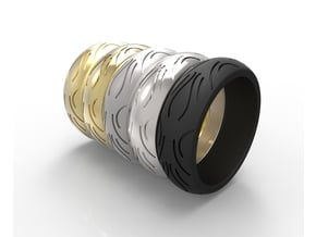 Motorcycle Low Profile Tire Tread Ring Size 6 in Black Natural Versatile Plastic