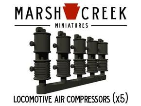HOn30 Locomotive Air Compressor in Smoothest Fine Detail Plastic