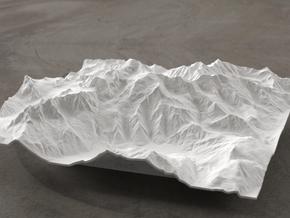 6''/15cm Mt. Blanc, France/Italy in White Natural Versatile Plastic
