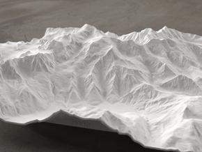 8''/20cm Mt. Blanc, France/Italy in White Natural Versatile Plastic