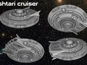 Ishtari Attack Cruiser in White Natural Versatile Plastic