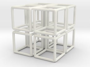 Building Cube 8x Scale 1-200 3,5x3,5x3,5m in White Natural Versatile Plastic: 1:200