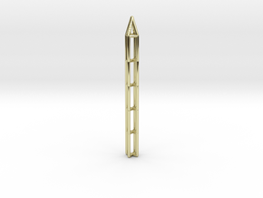 Pen Pendant X in 18k Gold Plated Brass