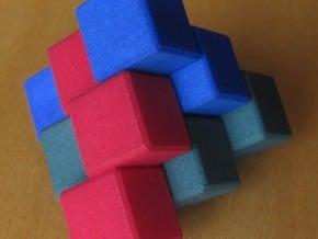 Three Piece Block in White Processed Versatile Plastic