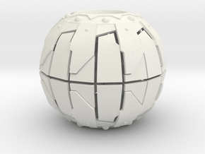 Pumpkin Bomb 4 Inch Diameter in White Natural Versatile Plastic