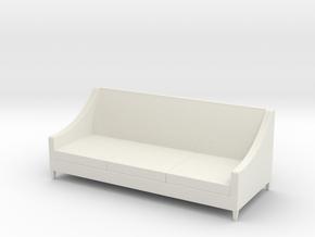 1:24 Simple Sofa in White Natural Versatile Plastic
