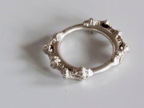 Kaleidoscopic Iterated Function System Ring 16.3mm in Natural Silver