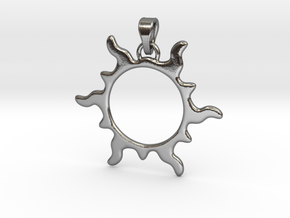 Sun Flare Pendant in Polished Silver (Interlocking Parts)