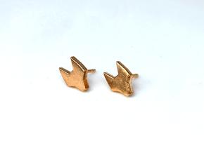 FOX Stud Earrings in Natural Bronze