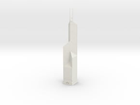 Bank of China Tower (1:2000) in White Natural Versatile Plastic