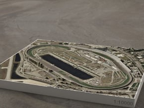 Daytona Int'l Speedway, Florida, USA, 1:10000 in Full Color Sandstone