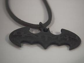Bat Man Pendant in Black Natural Versatile Plastic