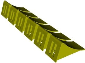 1/15 scale wheel chocks x 6 in Smooth Fine Detail Plastic