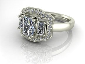 Vintage classic NO STONES SUPPLIED in Fine Detail Polished Silver