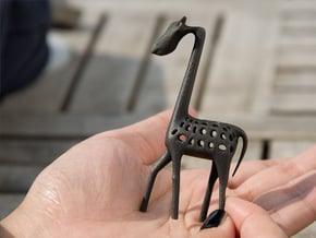 Giraffe in Matte Black Steel