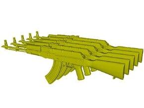 1/48 scale Avtomat Kalashnikova AK-47 rifles x 5 in Smoothest Fine Detail Plastic