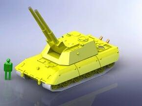 E-100 Superheavy Tank w. twin 88mm Flak 1/144  in White Natural Versatile Plastic