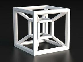 Hypercube A in White Processed Versatile Plastic