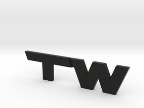 TacomaWorld Emblem in Black Natural Versatile Plastic