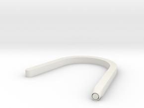 Hook Circular in White Natural Versatile Plastic
