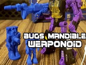 Bugs Mandible Transforming Weaponoid Kit (5mm) in Blue Processed Versatile Plastic