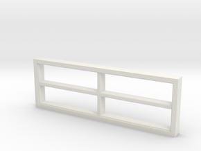 Window, 118in X 40in, 4 Panes in White Natural Versatile Plastic