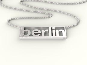 Typeberlin Berlin Pendant in Fine Detail Polished Silver