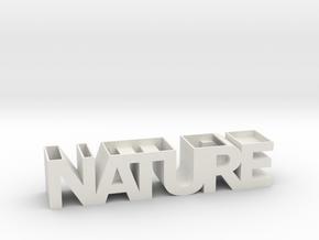 NATURE Planter V1.1. (14 cm or 19 cm) in White Natural Versatile Plastic: Small