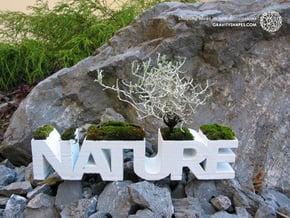 """NATURE"" Planter V1.0. (14 cm or 22 cm) in White Natural Versatile Plastic: Small"