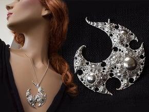 Yin Yang Infinity-Spiral Pendant in Natural Silver