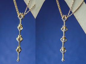 Flora x1 Pendant in Polished Brass (Interlocking Parts)