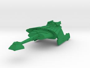 2500 scale L-9G Saber Frigate in Green Processed Versatile Plastic