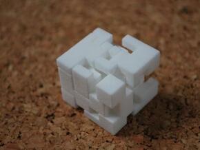Cubed Burr II in White Natural Versatile Plastic