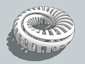 Caterpillar in White Natural Versatile Plastic