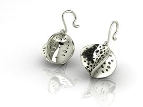 4 faced glitters NO STONES SUPPLIED in Fine Detail Polished Silver