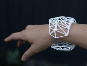 Wide Lena Bracelet - Medium (strong & flexible) in White Natural Versatile Plastic