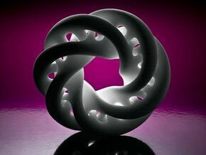Tight Double Moebius0,025-8,5cm in White Natural Versatile Plastic
