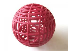 MegaWireSphere in Red Processed Versatile Plastic