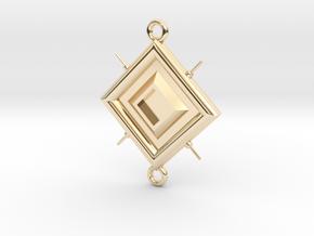 Pendant Leonardo in 14k Gold Plated Brass