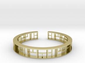 WINDOW Bracelet Medium Size D=60mm in 18k Gold Plated Brass: Medium