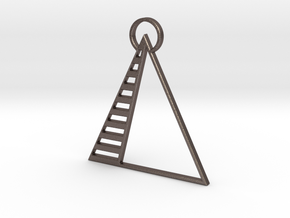 Pyramid Pendant in Polished Bronzed Silver Steel