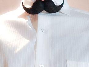 Bow_tie_mustache in Black Natural Versatile Plastic