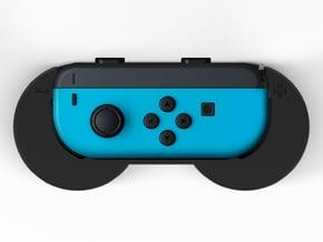 Super Joycon controller Grip in Black Natural Versatile Plastic