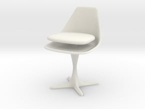 Burke Style 115 Cushion Up in White Natural Versatile Plastic: 1:12