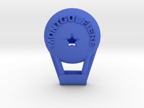 Montgolfiére Realistic Button in Blue Processed Versatile Plastic