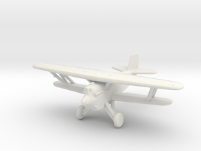 Curtiss F6C 'Hawk' (with wheels) in White Natural Versatile Plastic: 1:200