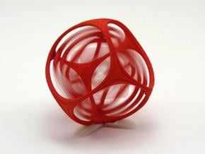 Gyro the Cube (Multiple sizes, from $11.50) in Red Processed Versatile Plastic: Medium